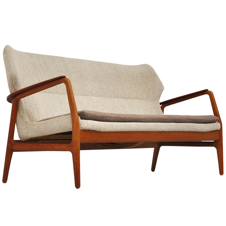 Bovenkamp Wingback Sofa With Original Fabric 1960 At 1stdibs