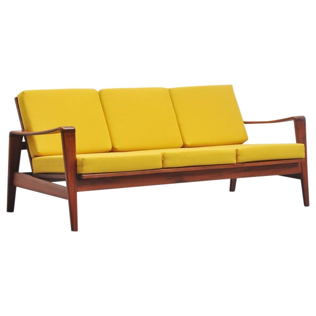 arne wahl iversen lounge sofa komfort denmark 1960 at 1stdibs. Black Bedroom Furniture Sets. Home Design Ideas