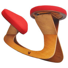 Ergonomic Stool by Hugo Holland, 1990
