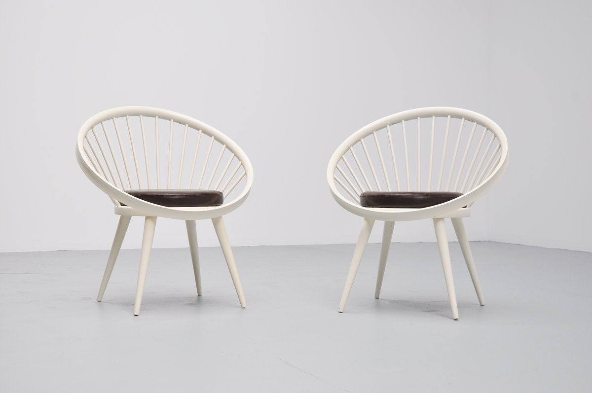 Yngve Ekstrom Circle Chairs for Swedese, 1960 at 1stdibs