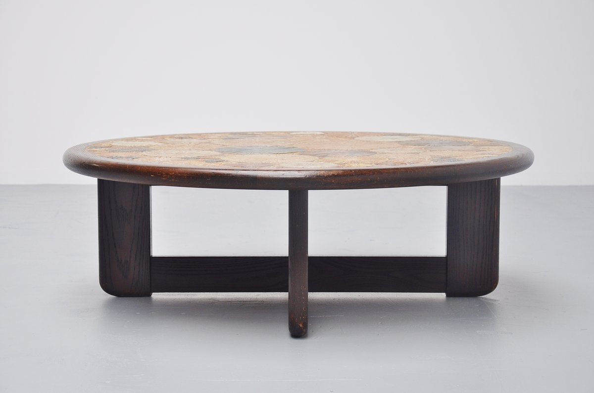 Tue Poulsen Ceramic Art Tiles Coffee Table Haslev Denmark 1963 At 1stdibs
