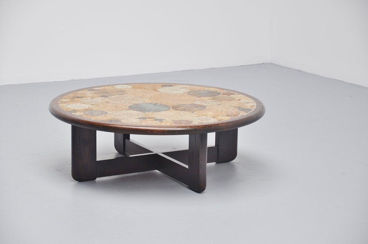 Tue Poulsen Ceramic Art Tiles Coffee Table Haslev