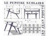 Jean Prouve Compass school desk for Ateliers Jean Prouve image 10