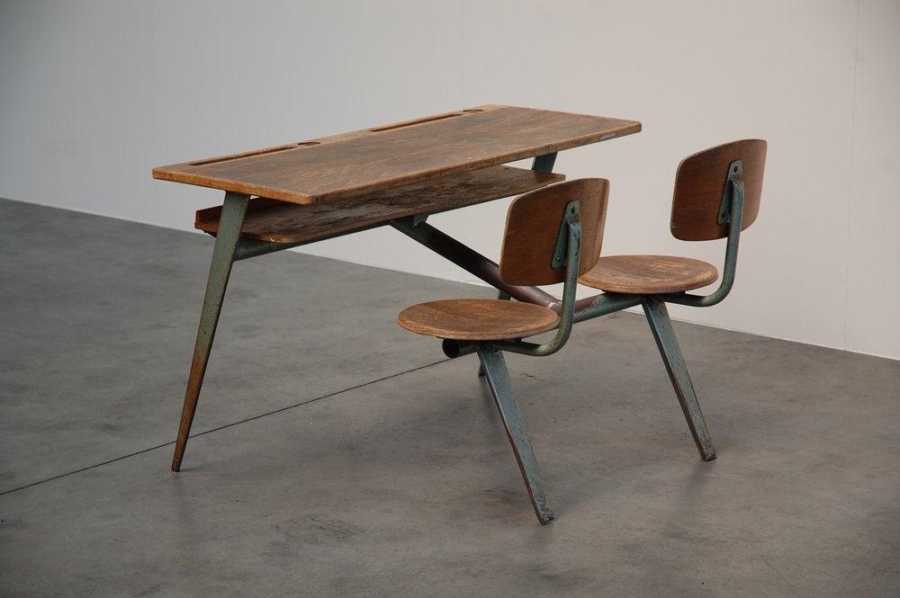Jean Prouve Compass school desk for Ateliers Jean Prouve 5