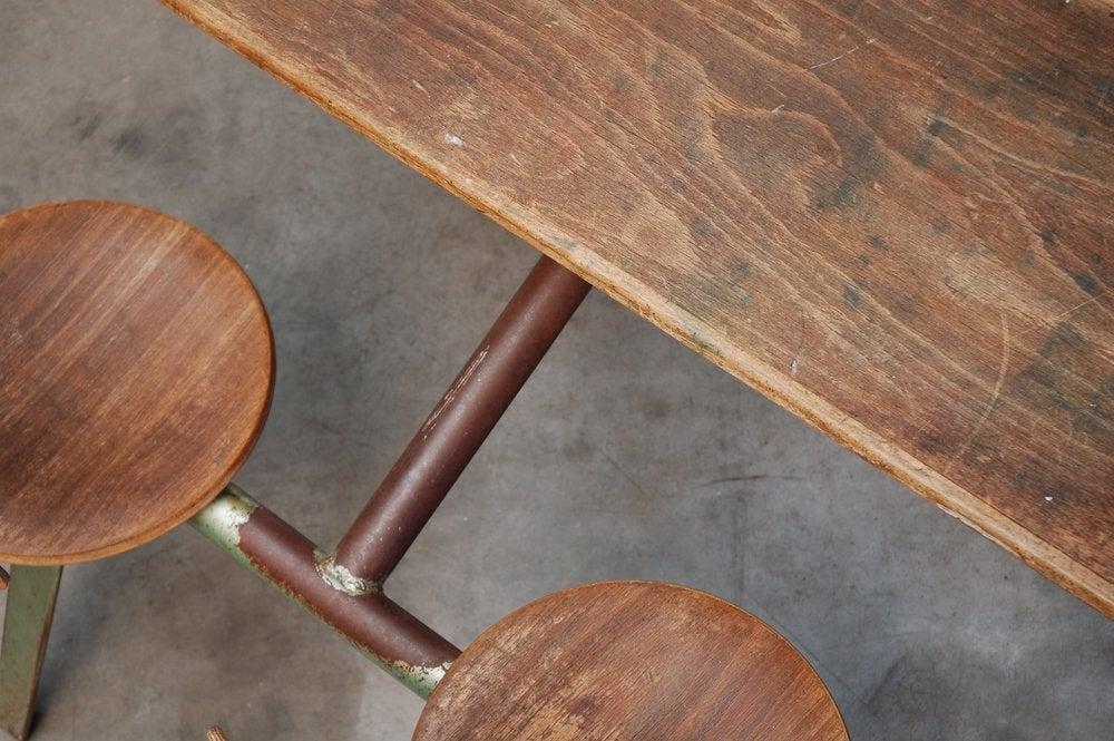 Jean Prouve Compass school desk for Ateliers Jean Prouve 7