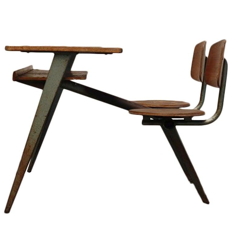 Jean Prouve Compass school desk for Ateliers Jean Prouve