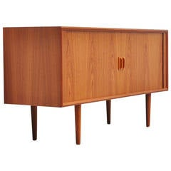 Small credenza by Svend Aage Larsen with Tambour doors 1960