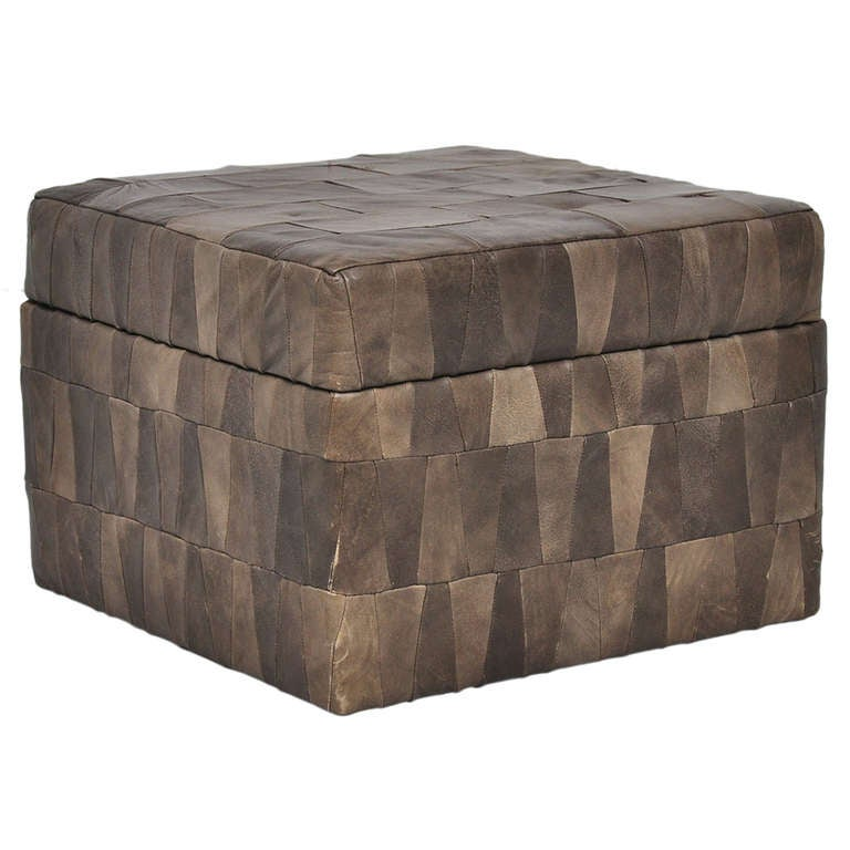 de sede patchwork storage box ottoman for ds11 1970 at 1stdibs