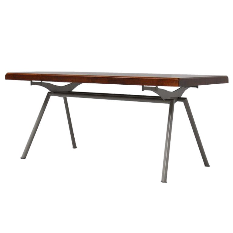 Industrial long dining table at 1stdibs for Long dining table