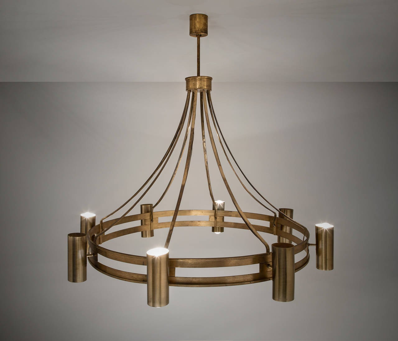 Ceiling Lights Very : Set of two very large brass ceiling lights at stdibs