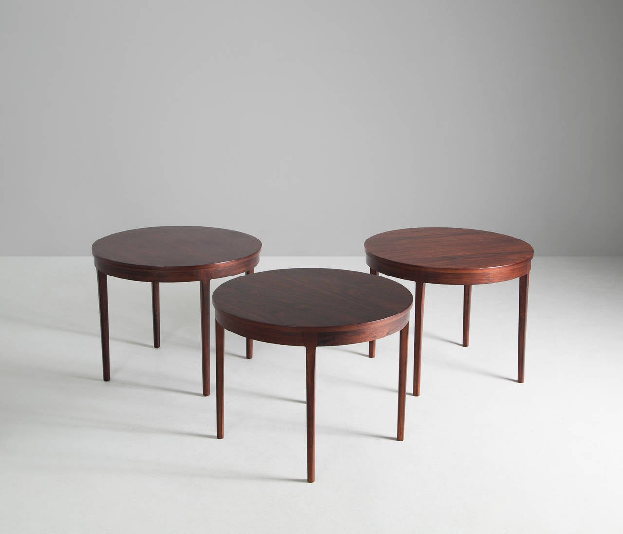 Well Made Set Of Three Rosewood Coffee Tables At 1stdibs