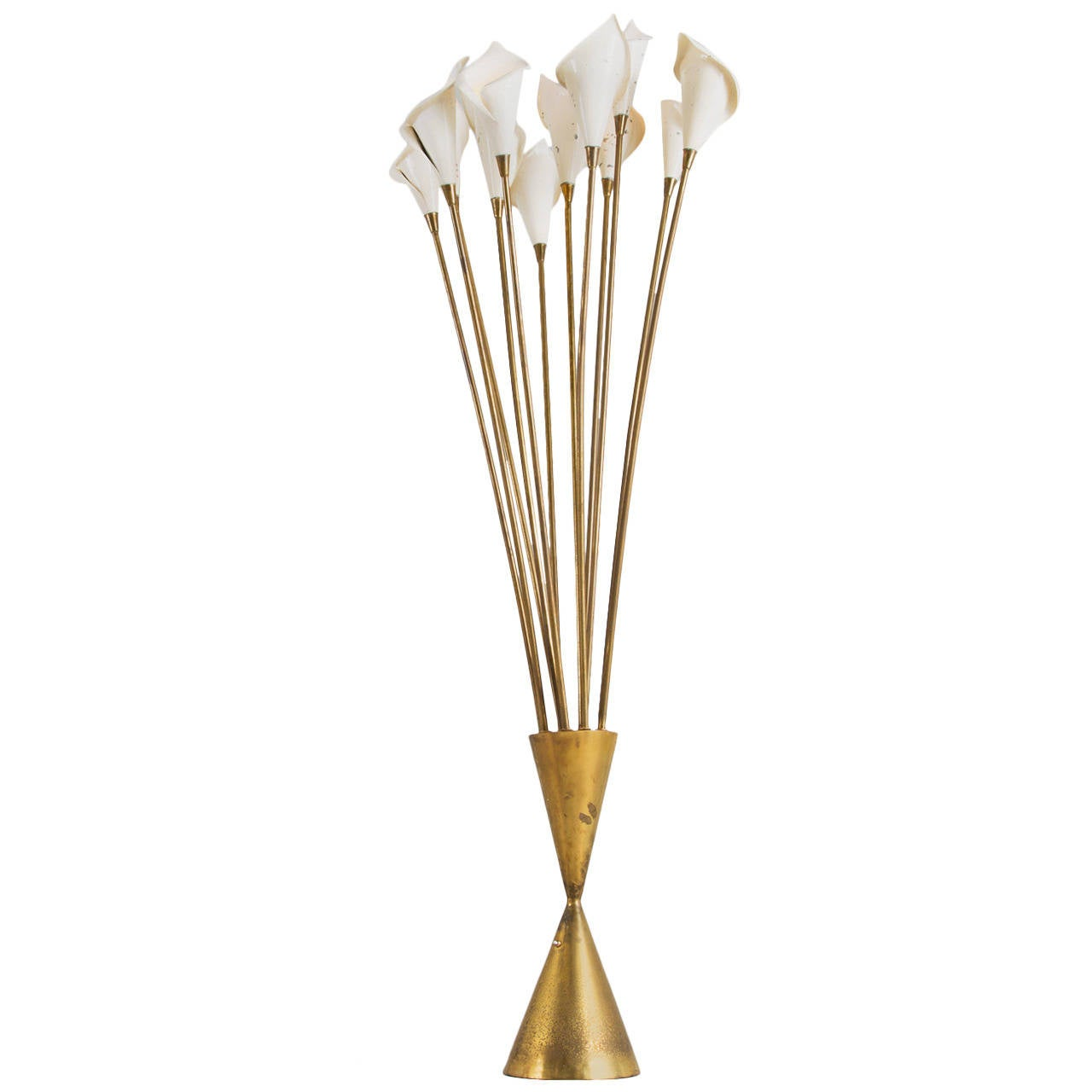 Angelo Lelli Large 39 Calla 39 Floor Lamp In Brass For Sale At 1stdibs
