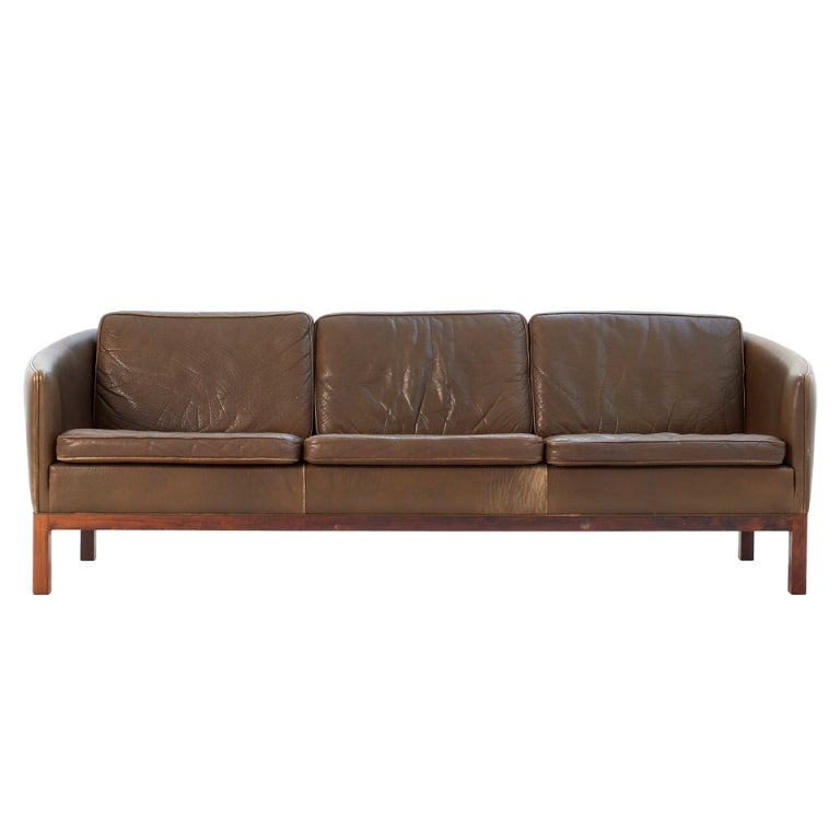 Olive Green Sofa 187 Arne Norell Olive Green Leather Tufted