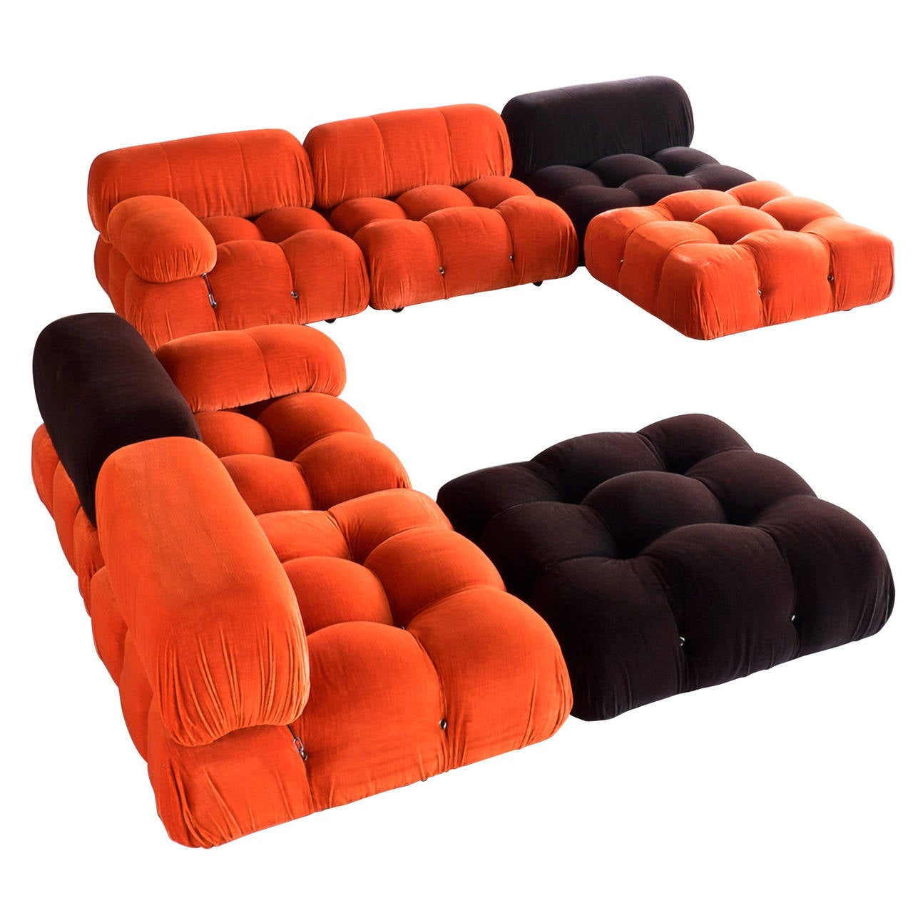 39 camaleonda 39 modular sofas by mario bellini at 1stdibs. Black Bedroom Furniture Sets. Home Design Ideas