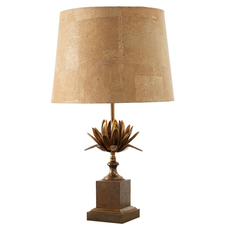 Very Rare French 39 Maison Charles 39 Bronze Table Lamp With