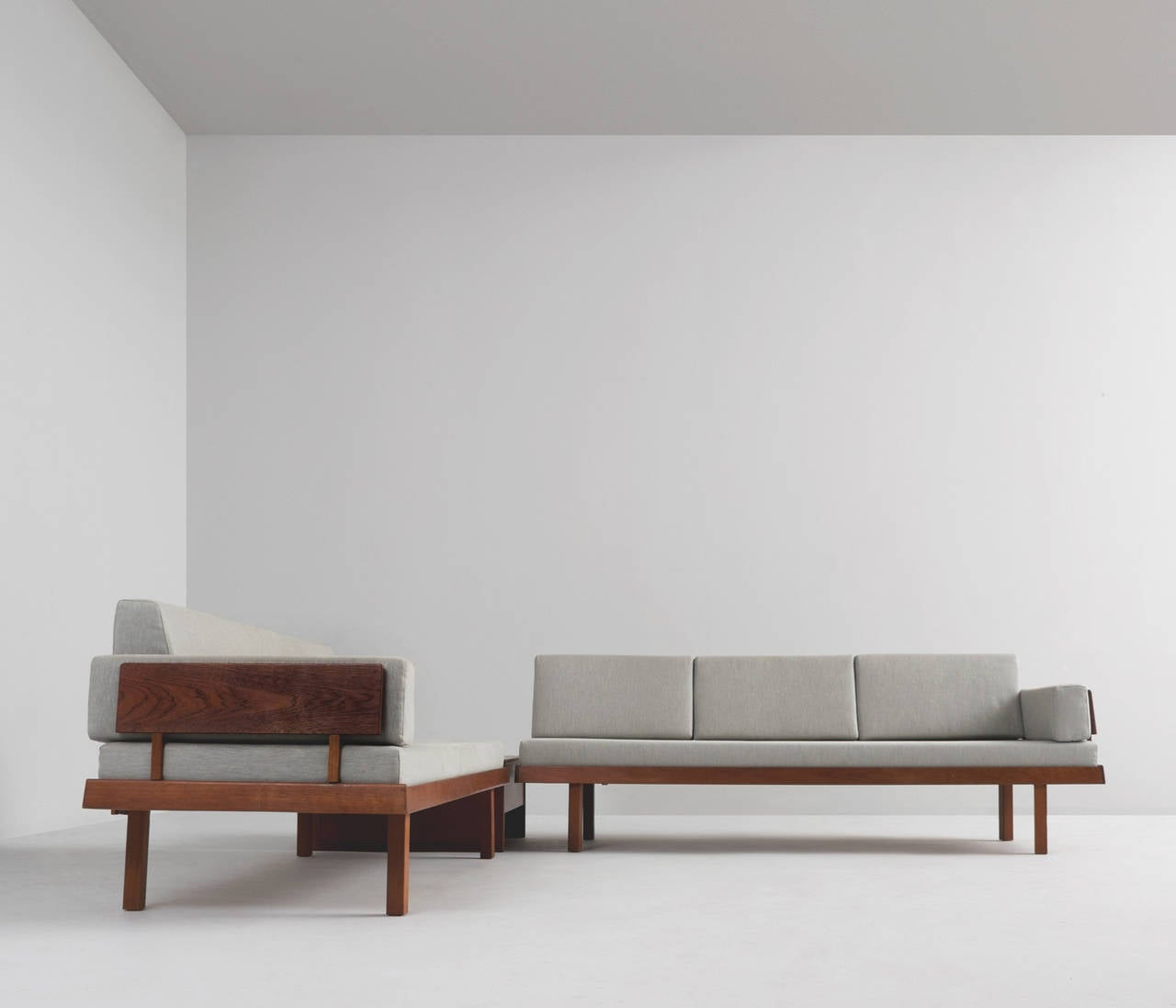 Danish living room set in teak and fabric upholstery for for Danish living room furniture