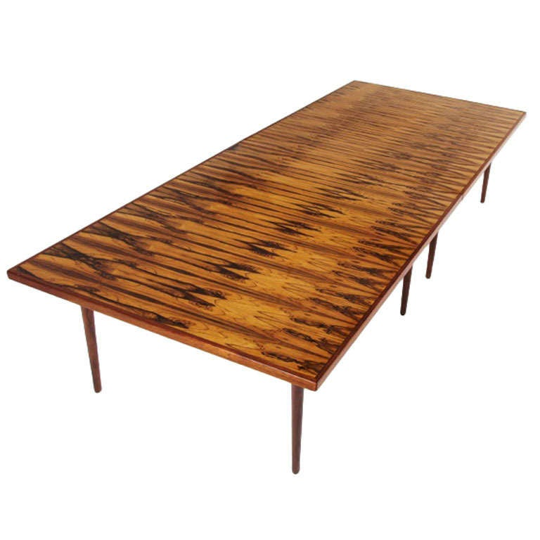 Large Rosewood Conference Dining Table By Arne Vodder At