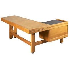 Large Oak Desk by Guillerme et Chambron