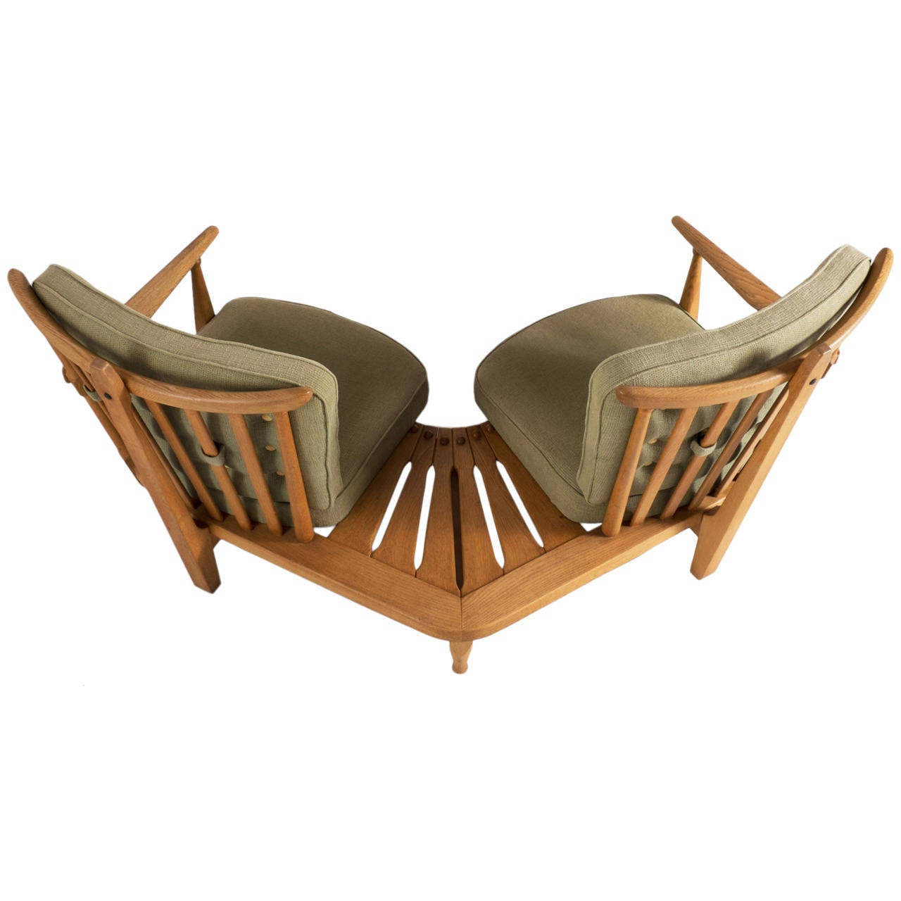 Curved sofa by guillerme et chambron at 1stdibs