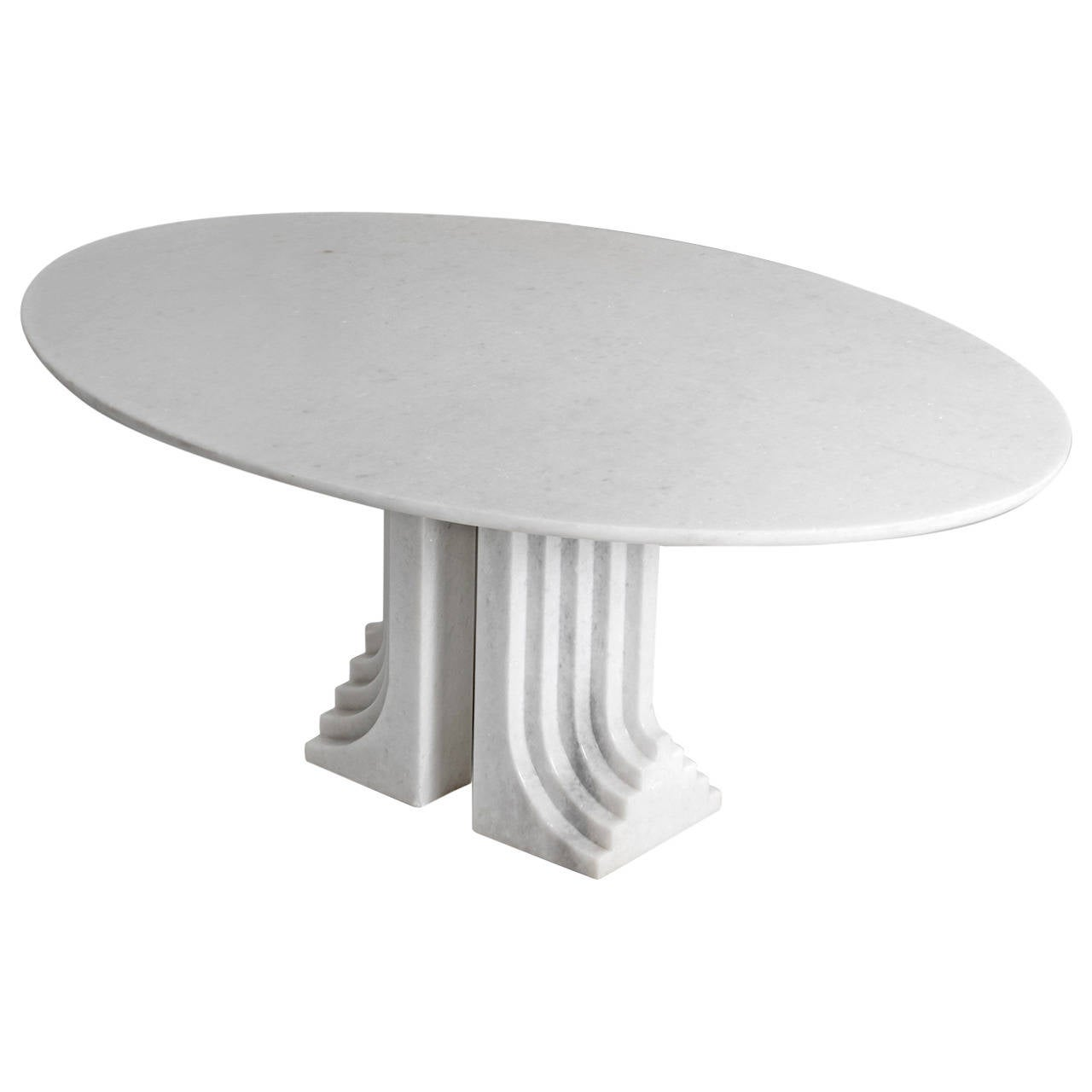 Oval Marble Dining Table 39 Samo 39 By Carlo Scarpa At 1stdibs
