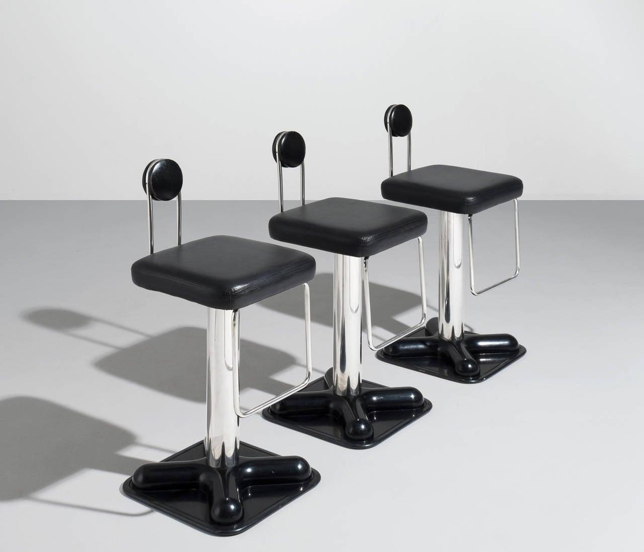 Set Of Three Bar Stools By Joe Colombo Birillo For