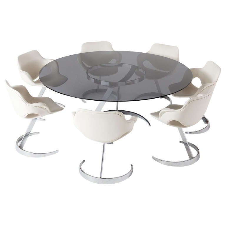 Exclusive Dining Set By Boris Tabacoff Table And Six