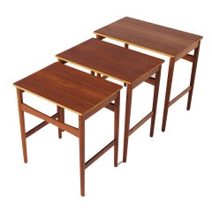 Set of 3 nesting tables by Hans Wegner for Andreas Tuck, Denmark