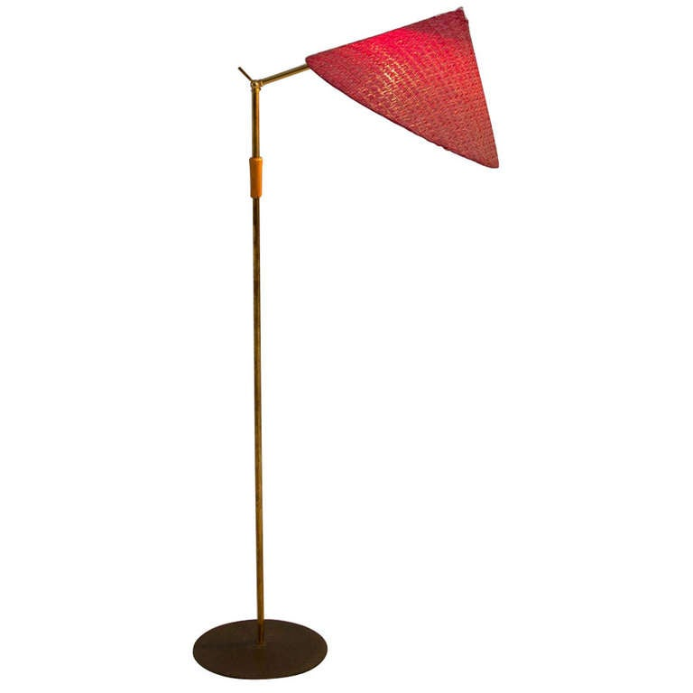 195039s italian brass floor lamp in the style of stilux for for 1950 s brass floor lamp