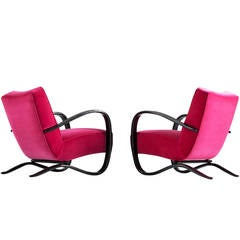 Set of Two Jindrich Halabala Easy Chairs, Czech Republic, 1930s
