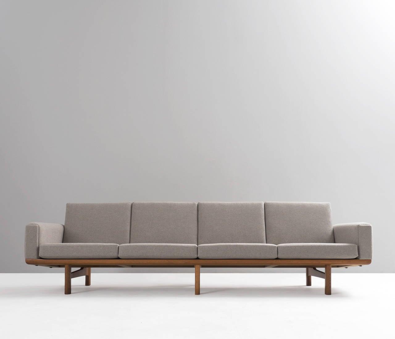 Hans Wegner Four Seat Sofa Ge 236 4 For Getama For Sale At