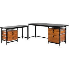 Rare Executive Desk by Jules Wabbes, Old Version