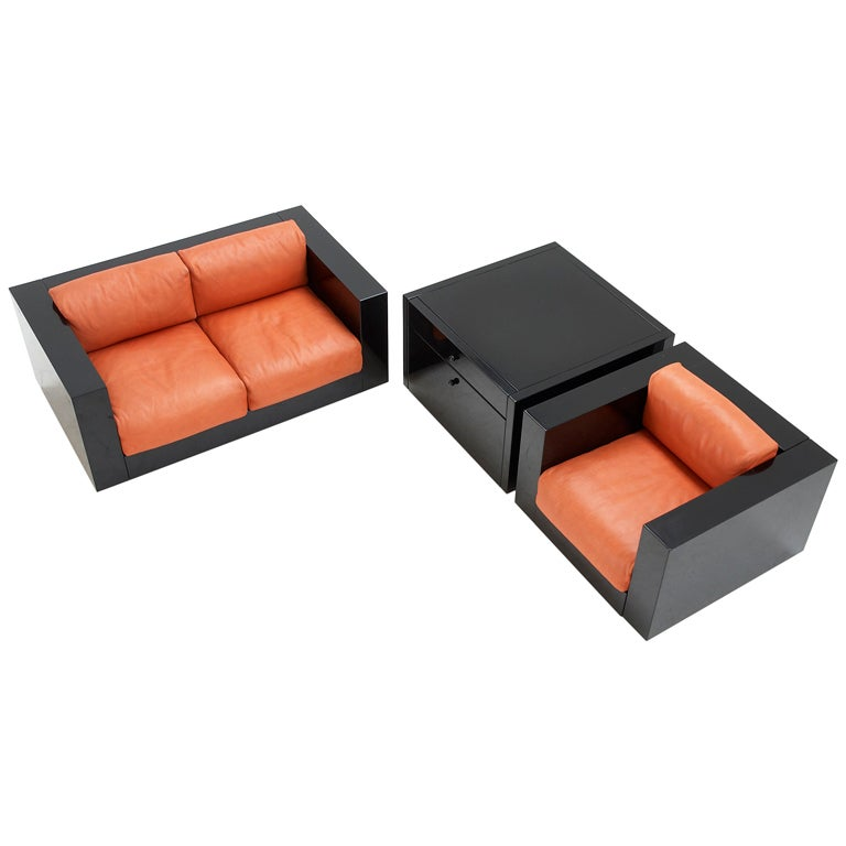 Massimo And Lella Vignelli Sofa Set For Poltranova Italy At 1stdibs