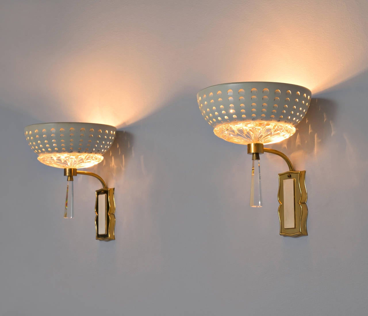 Set Of Two Decorative Wall Lights At 1stdibs