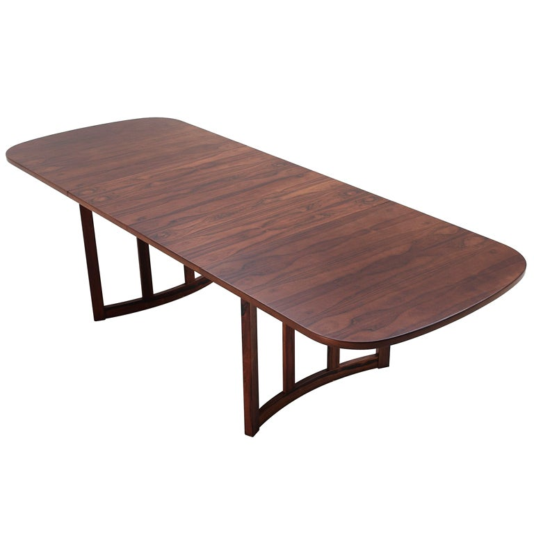Danish rosewood dining table with curved base and 2  : XXX933113455087571 from www.1stdibs.com size 768 x 768 jpeg 36kB