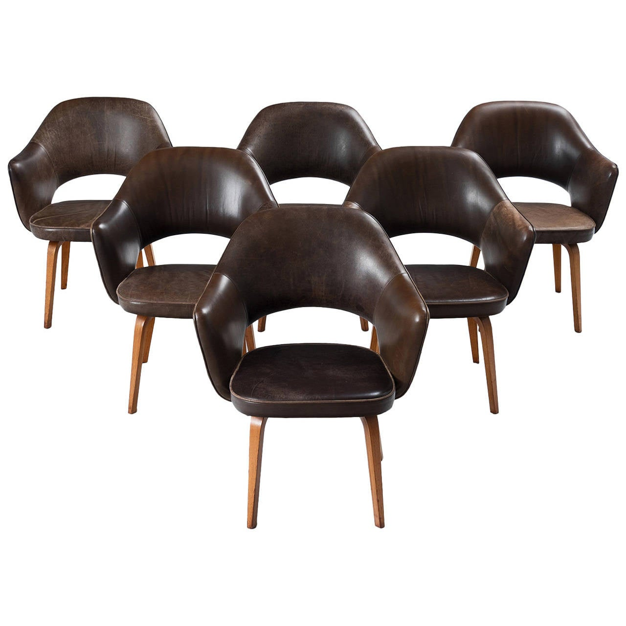 Set of Six Conference Chairs by Eero Saarinen for Knoll