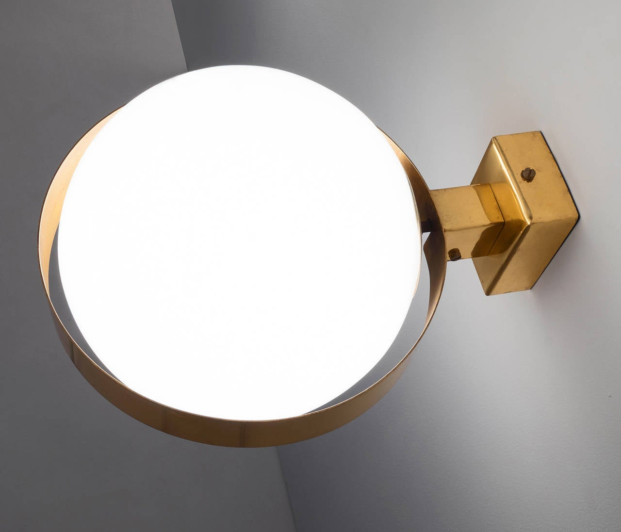 Extra Large Wall Lights in Brass with Floating Globes For Sale at 1stdibs