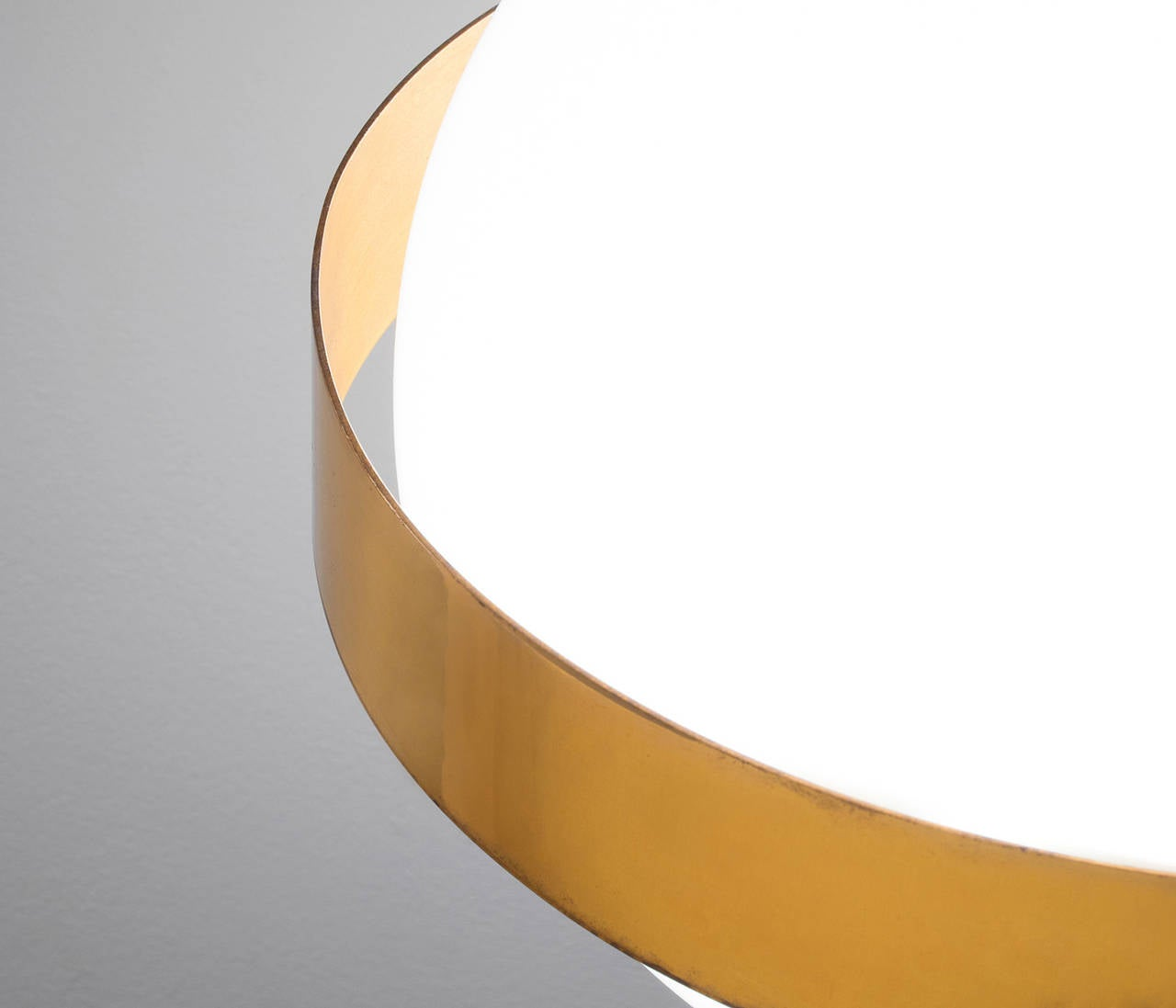 Very Large Wall Lights : Extra Large Wall Lights in Brass with 'Floating' Globes at 1stdibs