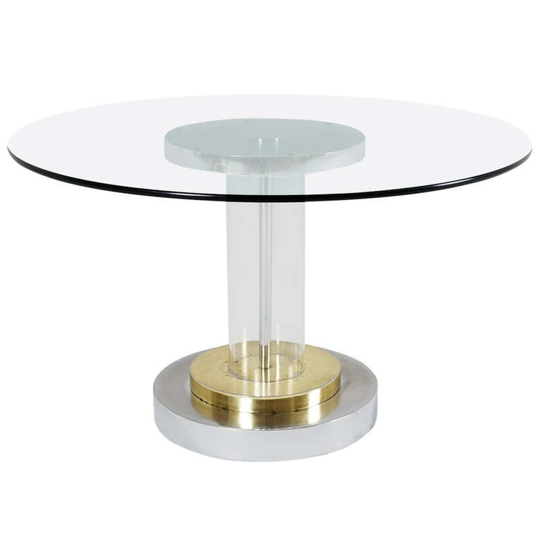 Dining table round glass lucite dining table for 13 inch round glass table top
