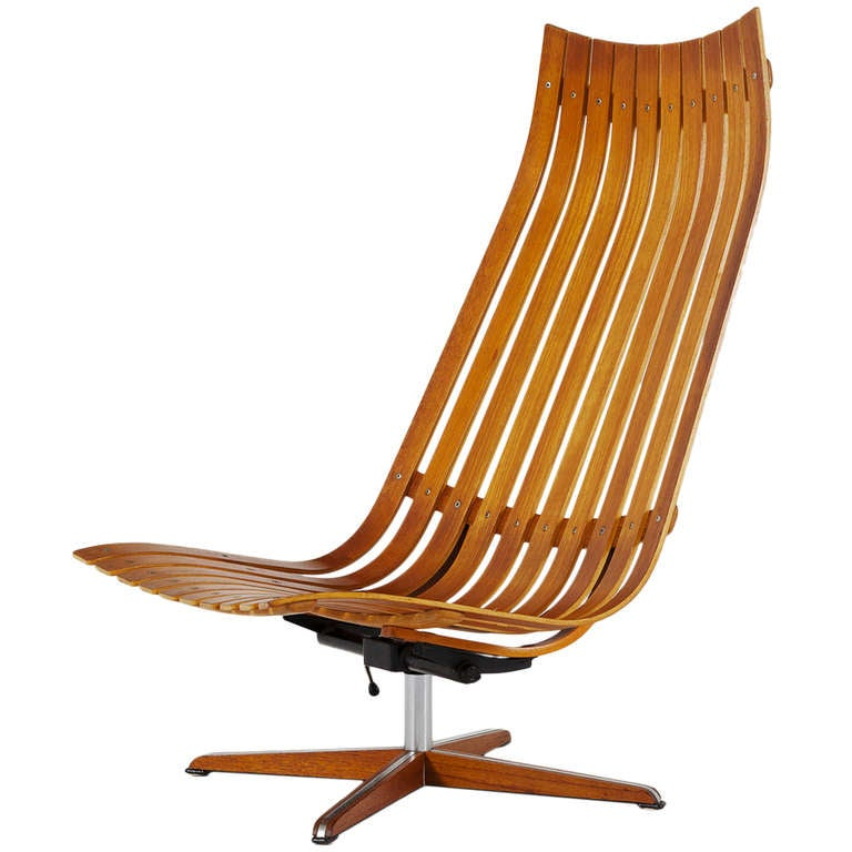 Teak swivel and tilt loungechair by hans brattrud for hove for Furniture hove