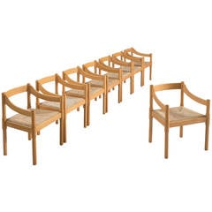 Set of 21 Vico Magistretti 'Carimate' Armchairs for Cassina, 1963