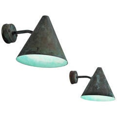 Seven Hans-Agne Jakobsson Copper Outdoor Wall Lights