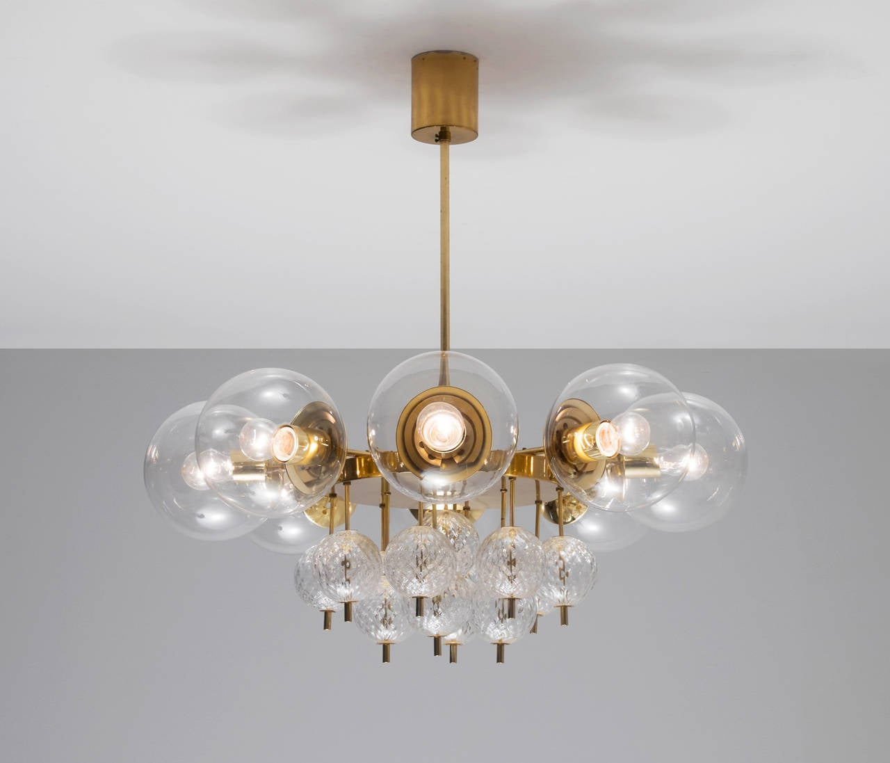 Large chandeliers with brass and glass bulbs for sale at 1stdibs large chandeliers with brass and glass bulbs 2 arubaitofo Image collections