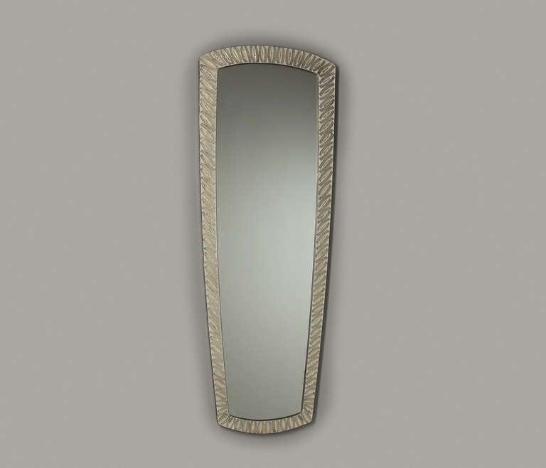 Large Rectangular Italian Mirror Decorated with Mosaic