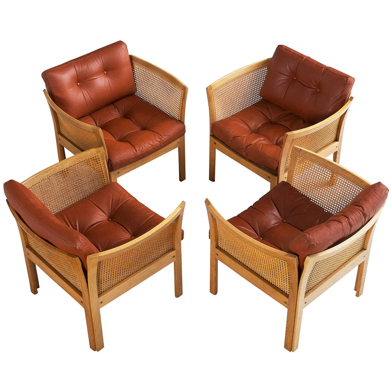 Illum Wikkels 248 Set Of Four Chairs In Oak For Sale At 1stdibs