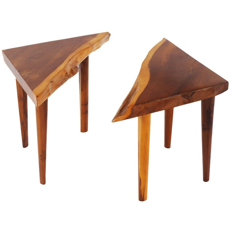 Pair of 2 tree trunk tables at 1stdibs