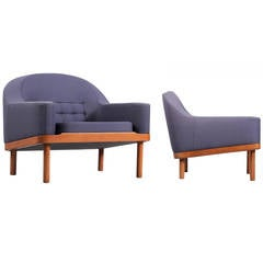 Pair of Scandinavian Lounge Chairs