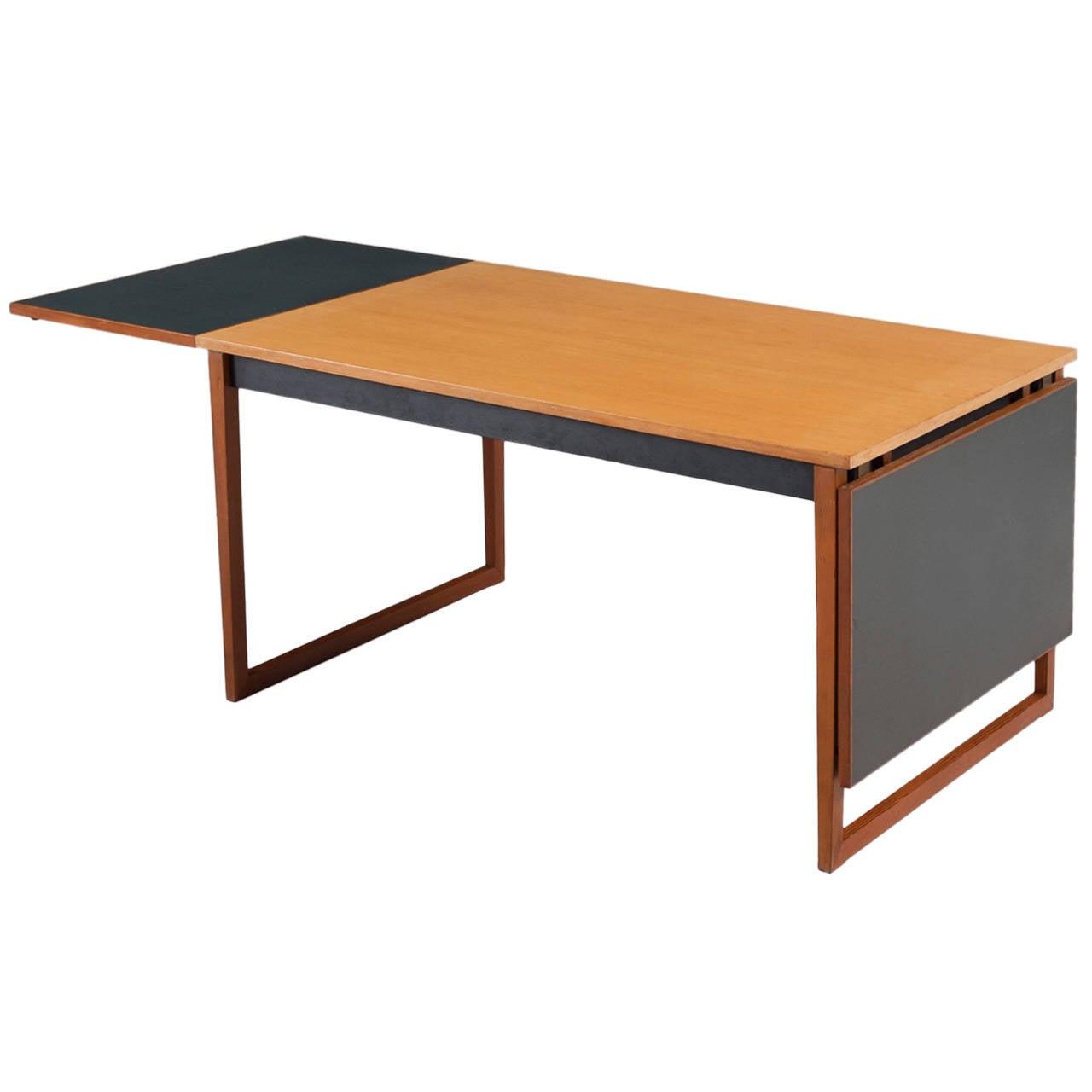 Finn juhl custom table in oregon pine for sale at stdibs