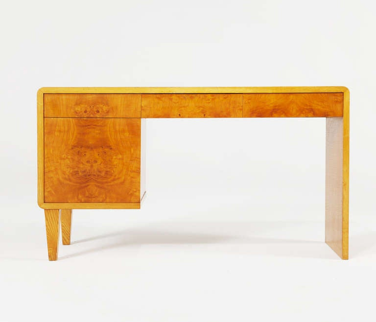 Elegant Writing Desk In Honey Stained Oak With