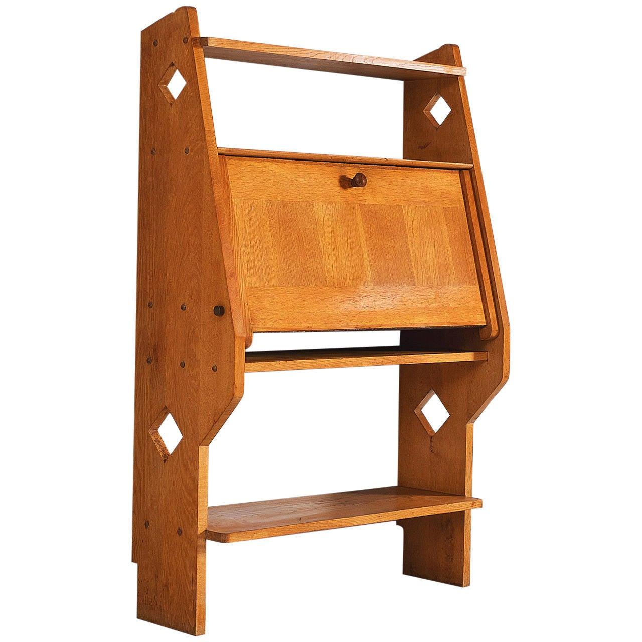 guillerme et chambron french solid oak secretary at 1stdibs. Black Bedroom Furniture Sets. Home Design Ideas