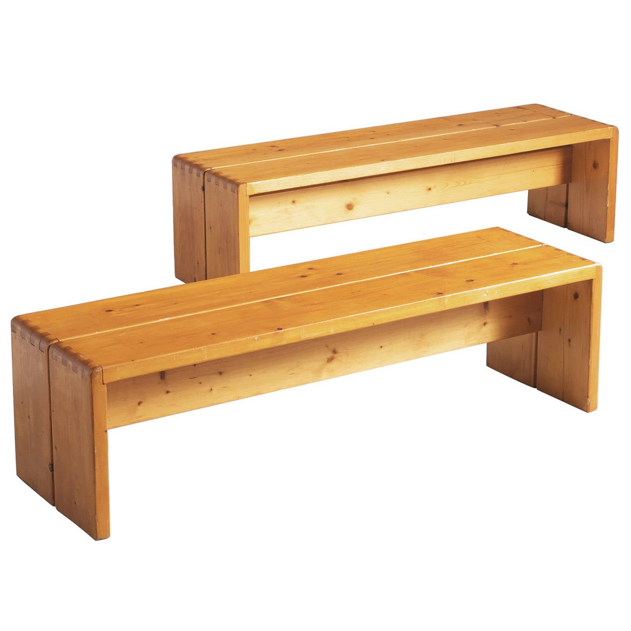 Charlotte Perriand Benches In Solid Pine For Sale At 1stdibs